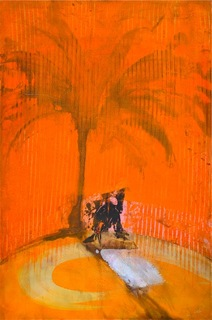 Orange Palm Shadow Charmer by Richard Allen