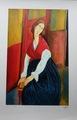 AMEDEO MODIGLIANI - Portrait of Jeanne Hebuterne (1919) by Amedeo Modigliani