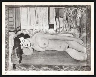 Nude reclining in an armchair by Henri Matisse