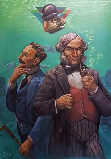 """Lord Forrester and son unda da uata by Carlos Cenoz Bermejo """"Dino"""""""