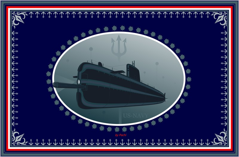 """United States of America """"US NAVY"""" banner (size XXXXL) by PACHI"""