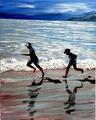 Me and my shadow love to run, we love to play out in the sun. by Eli Gross