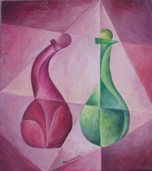 Two stupid bottles by Jan Hinais