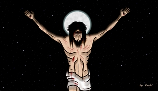 Crucified Christ - banner - (size 7 XL) by PACHI