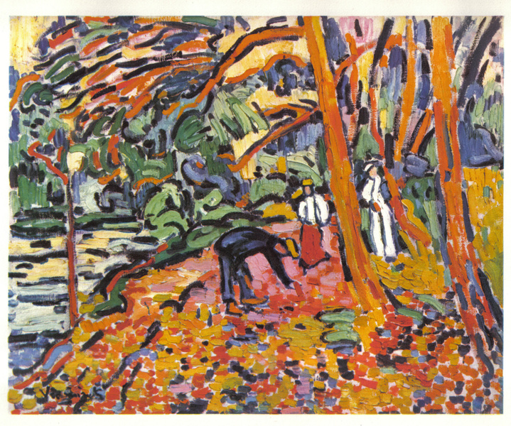 PAYSAGE AU BOIS MORT (aka Wood landscape) by Maurice Vlaminck